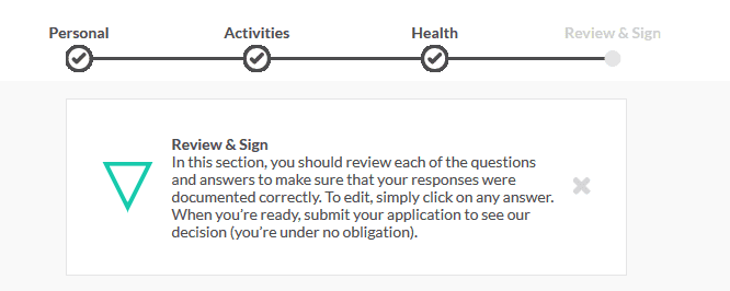review and sign your ladder application