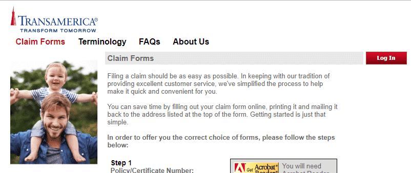 transamerica claims form