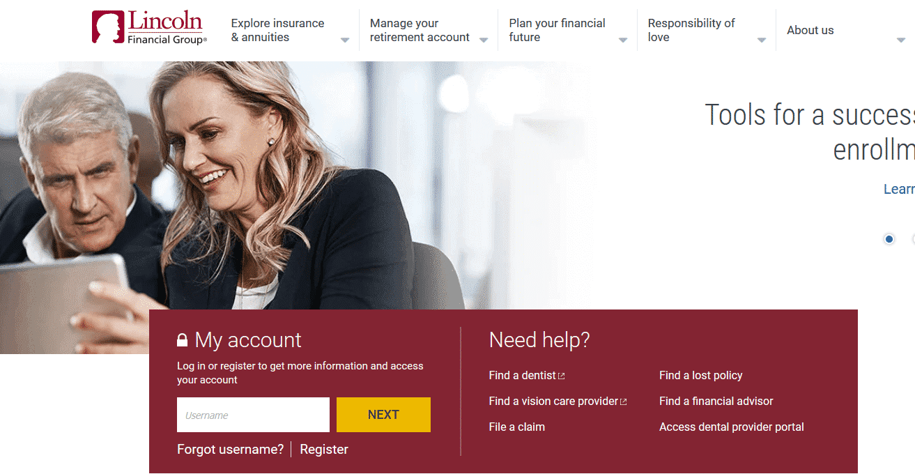 lincoln financial homepage