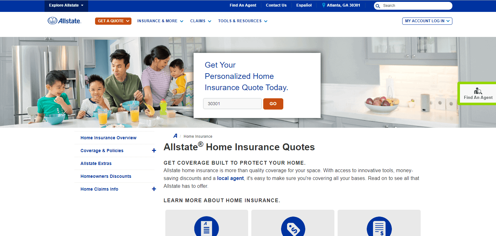 allstate home page