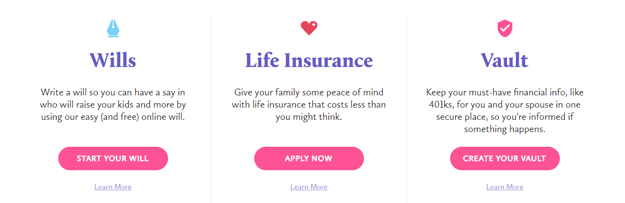 fabric life insurance options