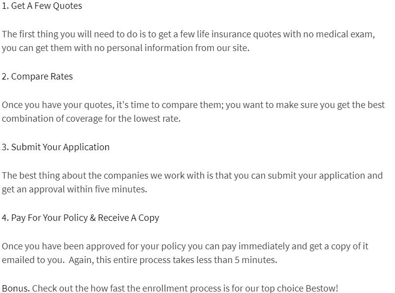 how to apply for term life insurance no exam